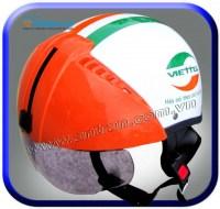 Mũ Bảo Hiểm Viettel Có Kính Giấu ATN04G-KH36